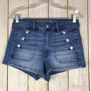 American Eagle Super Hi-Rise Shortie Shorts Size 8